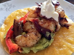 Grilled Shrimp Tacos with Bacon and Guacamole
