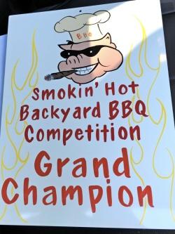 Smokin' Hot Backyard BBQ Grand Champion